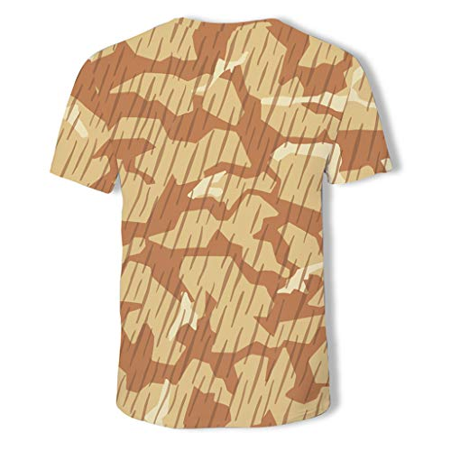 Allywit-Mens Shirts Casual Summer Camouflage Slim Fit Tee Shirt Short Sleeve Muscle T-Shirt Classic T Shirts Tshirts by Allywit-Mens (Image #4)