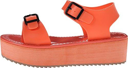 C Label Women's Mollini-17 Platform Sandal,Coral7 M US