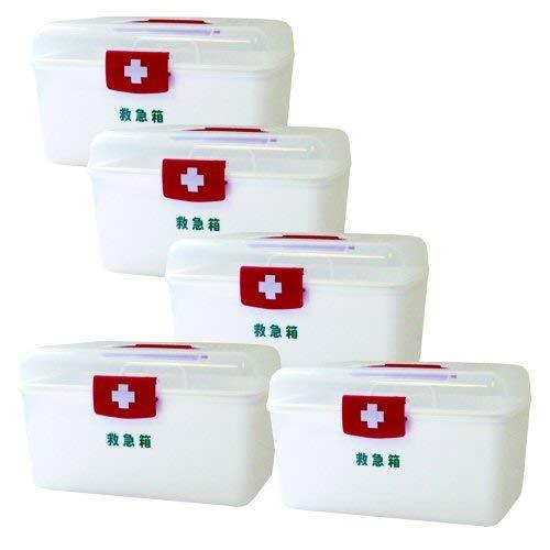 LEポリ救急箱M(衛生材料セット付)×5セット   B07PWJYYMK