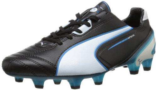 Puma Hommes Roi Sl Taquet De Football Au Sol Ferme Noir / Blanc / Fluorescent Bleu
