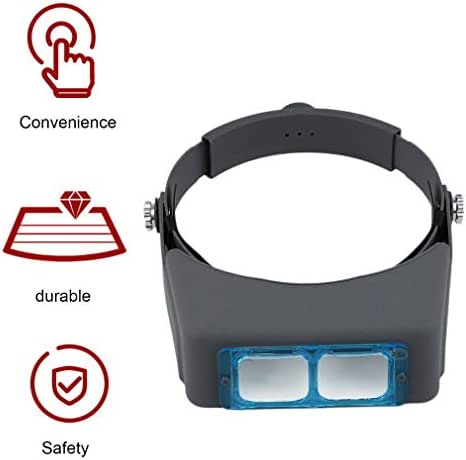 CAiYoukes Helmet Double Lens Head Wearing Magnifier Precise Device Enhancing Eyesight Multicolor