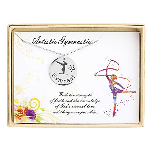 ecklace Sports Lover Charm Necklace Gymnast Jewelry Gift for Her Girl Gift Personalized Gymnastics Gift Gift for Gymnasts ()