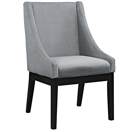 Modway Tide Wood Dining Chair, Gray
