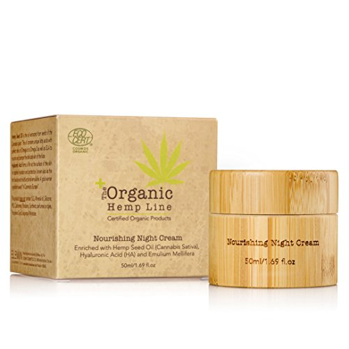 Organic Nourishing Night Cream with Hemp Seed Oil & Ultra Moisturizing Hyaluronic Acid | For Face and Eyes Area | Anti-Wrinkle, Anti Aging, Skin Calming Solution | Treats Dark Circles and Sun Spots ()
