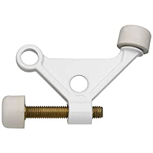 National Hardware N248-401 V234 Hinge Pin Door Stop in White