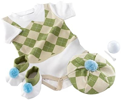 Baby Aspen Sweet Tee 3 Piece Golf Layette Set In Golf Cart Packaging 0-6 Months from Baby Aspen