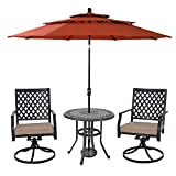 "MFSTUDIO 32"" Cast Aluminum Patio Outdoor Retro"