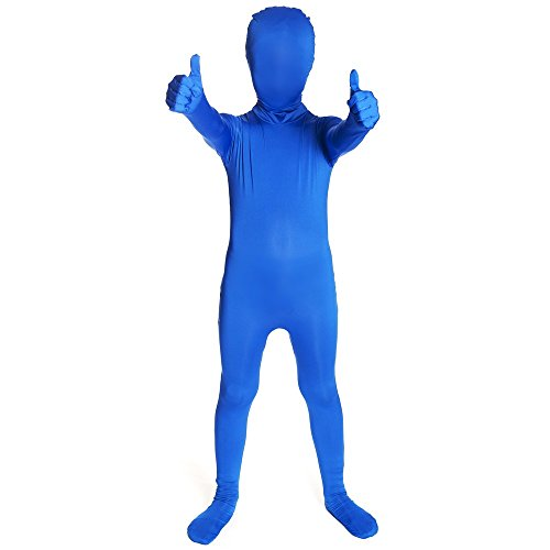 [Blue Original Kids Morphsuit Costume - size Large 4'1-4'6 (123cm-137cm)] (Make Your Own Halloween Costume With Clothes)