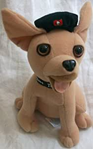 "Taco Bell, 6"" Plush Dog Doll Toy Wearing Black Hat"