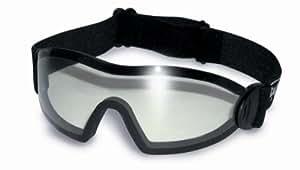 Global Vision - Gafas para jockey (irrompibles, UV400, incluye funda, lente transparente), color negro