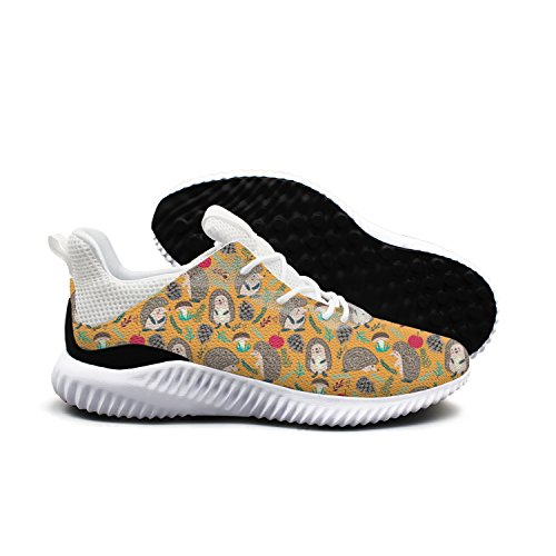 Cute Hedgehog Loves Forest Leisure Casual Running Shoes Woman's New Novelty Colorful 10 size