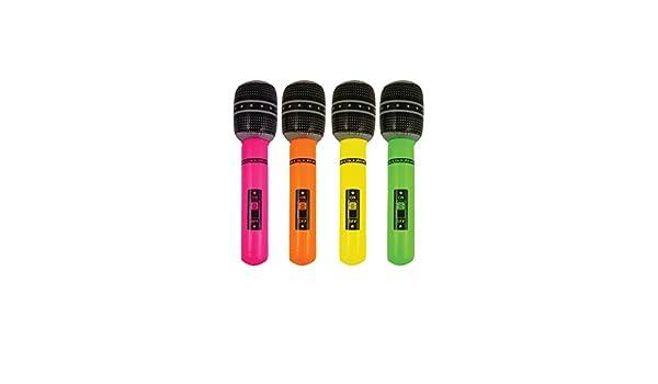 The Home Fusion Company Micrófono Hinchable de 40 cm para ...