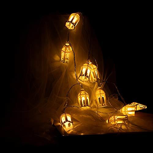 Rumas Flexible Small House LED Night Light - Happy Halloween Decoration - Copper Wire Night Light - Fairy Night Light DIY Decor for Garden Street Road Studio City (B)