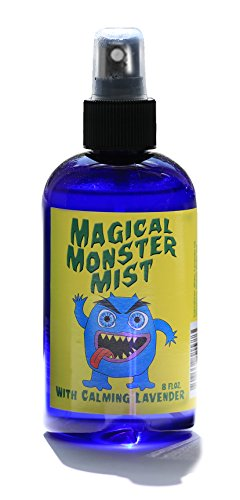 Monster Spray, Magical Monster Mist with Calming Lavender Oil, Spray for Kids, Naptime, Bedtime Spray for scared children, cute gift ideas, 8 oz. spray, paranormal, ghost and monsters -