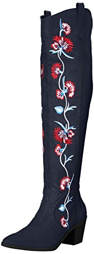 Carlos by Carlos Santana Women's Alexia Over The Knee Boot, Inkwell, 7 Medium US by Carlos by Carlos Santana