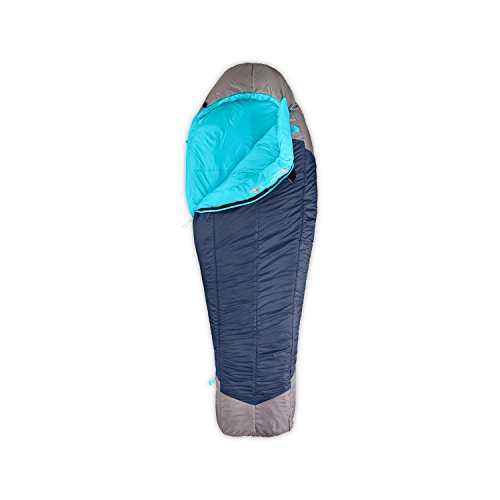 Women's The North Face Cat's Meow Sleeping Bag Blue Coral/Zinc (Cats Meow Sleeping Bag)