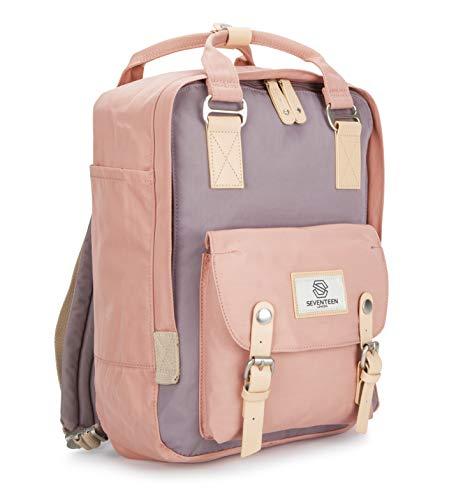 SEVENTEEN LONDON - Marylebone Classic Unisex Waterproof Backpack for College School Travel Luggage Bag - 13