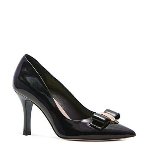 Women's Patent Leather TJ Collection Courts Trim Bow 4Pwna5q