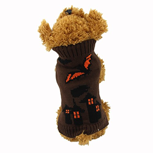NACOCO Dog Sweater Bat Lantern Pet Devil Costume Halloween Holiday Party for Cat and Puppy (XL)