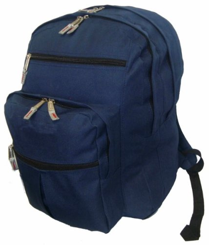 Ddi 600d Polyester Multi Pockets Backpack, 18x13x8.5'', Navy. (pack Of 24)