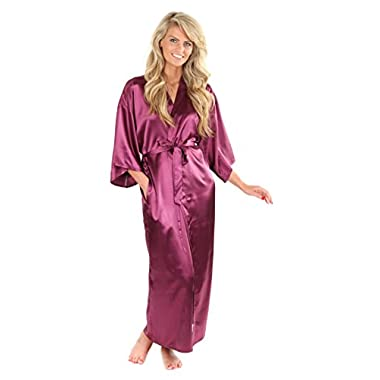 VEAMI Women's Kimono Robe-Imperial Purple-X-Large, Long