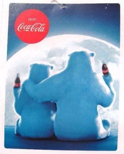 Forever Collectibles Coca-Cola Blue Polar Bear Micro Fleece ()
