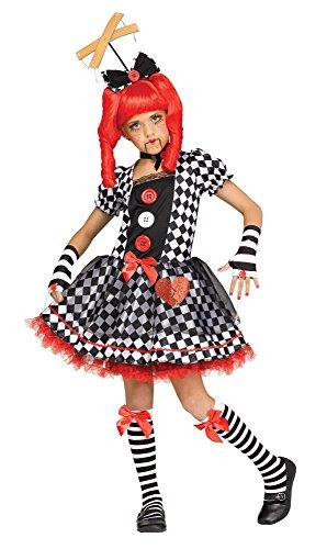 Fun World Marionette Doll Child Costume, Multicolor, Medium -
