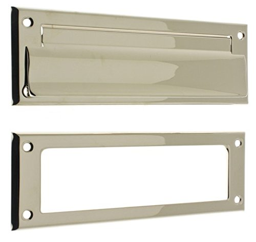 Idh by St Simons 22110-014 Solid Brass Letter Mail Plate /& Open Back Plate44; Bright Nickel