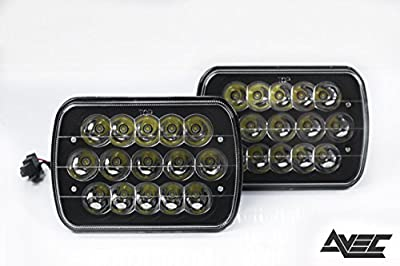 Avec Products 7x6 Luxx Series LED Conversion Headlights - Clear/Black