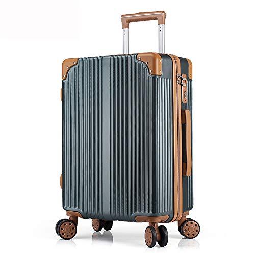 LIYONG Trolley Case Aluminum Frame Boarding Universal Wheel Trolley Bag Anti-Scratch Business Box (Color : Dark Green, Size : 26'')