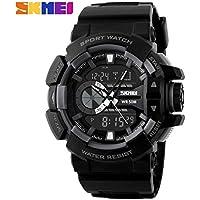Skmei Analog-Digital Black Dial Men's Watch - 1117