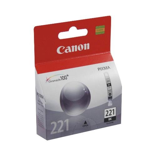 Canon 2946B001 OEM Ink - (CLI-221BK) iP3600 iP4600 iP4700 MP540 MP550 MP560 MP620 MP630 MP640 MP980 MP990 MX860 MX870 Black Ink Tank