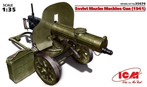 ICM Models Soviet Maxim Machine Gun 1941 Kit