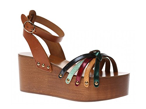isabel-marant-womens-multi-color-leather-wedges-shoes-size-10-us
