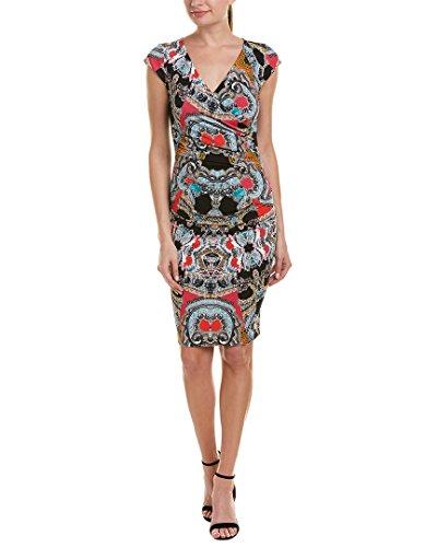 (Nicole Miller Women's Paisley Mash Beckett Wrap Dress, Multi)