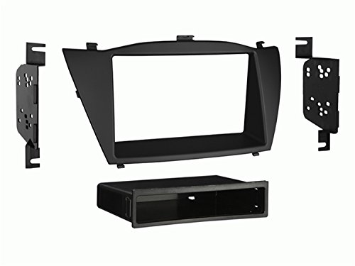 Metra 99-7341B Hyundai Tucson 2010-up Installation Dash Kit for Single or Double DIN/ISO Radios, Black Double Iso Din Kit