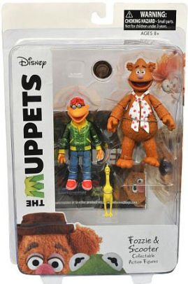 DIAMOND SELECT TOYS The Muppets: Fozzie & Scooter Series 1 Action Figure - Scooter Muppets