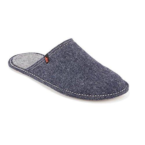 Living Kitzbühel Pantoffel Flex uni 2240 - Pantuflas de fieltro unisex azul - Jeans