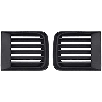NewYall Pack of 2 Front Bumper Left Driver and Right Passenger Side Fog Lamp Hole Grille Cover