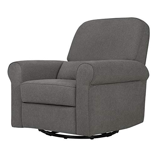 Davinci Ruby Recliner and Swivel Glider, Dark Grey
