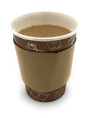 [5950 Count] Disposable Corrugated Hot Cup Sleeves Java Jackets - Natural compostable Kraft Color Cup Sleeve Protective Heat Insulation Paper Plastic Cups hot Coffee Tea Chocolate Drinks Insulated by Harvest Pack (Image #5)