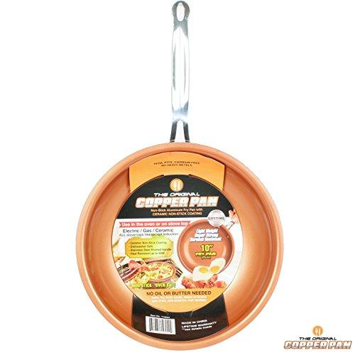 Original Copper Pan 10″ Round Nonstick Fry Pan, Copper