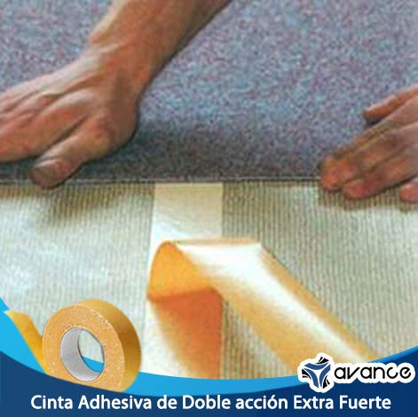 Cinta Adhesiva Blanca de Doble Acción Extra Fuerte (1 1/2 pulgada)