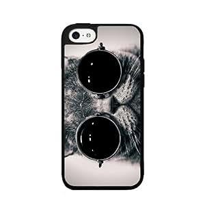 BleuReign(TM) Cute Cat in Sunglasses - Phone Case Back Cover (iPhone 5 5s and iPhone SE Plastic)