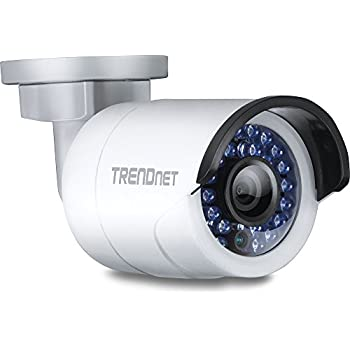 TRENDnet Indoor/Outdoor Bullet Style, PoE IP Camera with 3 Megapixel Full 1080p, IP66 Rated Housing, Night Vision up to 100ft., ONVIF, IPv6, TV-IP310PI