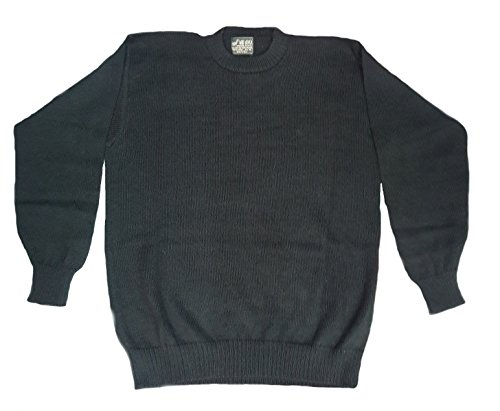 Alpakaandmore Mens 100% Baby Alpaca Wool Sweater Jumper (Medium, Black) Peruvian Alpaca Wool Mens Sweater