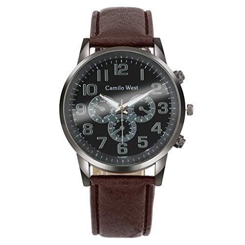 LUXISDE Men's Watches Wrist Watch Fashion Business Men's Watch Glass Casual Leather Belt Quartz Watch 139