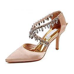 Women Pointed Toe Crystal Rhinestone High Heels