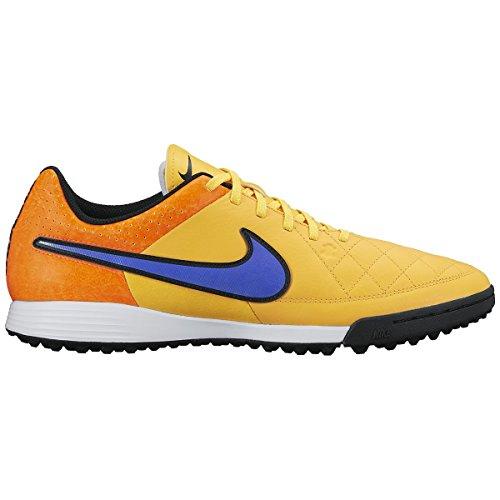 Nike Tiempo Genio Leather TF - Zapatillas de fútbol para hombre Naranja (Lsr Orng/Prsn Vlt-Ttl Orng-Vlt 858)