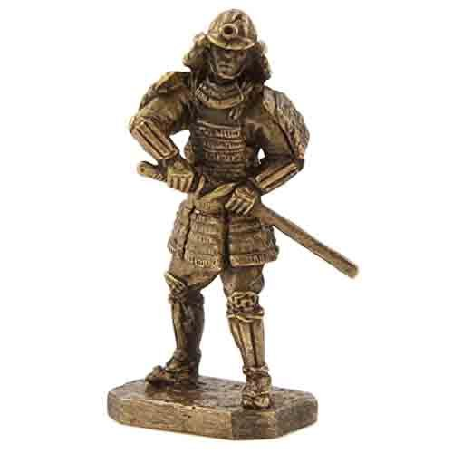 CTOC Samurai with a sword Katana Bronze Statuette Samurais series Handmade military historical miniature 40 mm Collection figurine metal toy Soldier pub18 ()